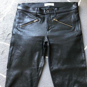 Madewell black leather pants